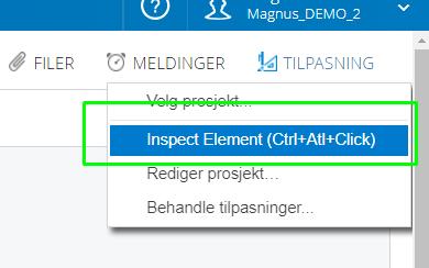 Inspect elemet